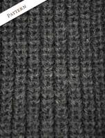 Pattern Detail of Fisherman's Merino Ribbed Turtleneck Sweater