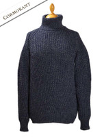 Women's Merino Ribbed Turtleneck Sweater - Cormorant