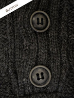 Button Detail of Buttoned Merino Wool Sweater