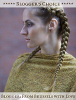 Blogger's Choice: Lambswool Celtic Ruana Wrap - From Brussels with Love - Gold