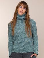 Donegal Turtleneck Sweater - Sea Green