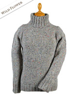 Donegal Turtleneck Sweater - Wild Flower