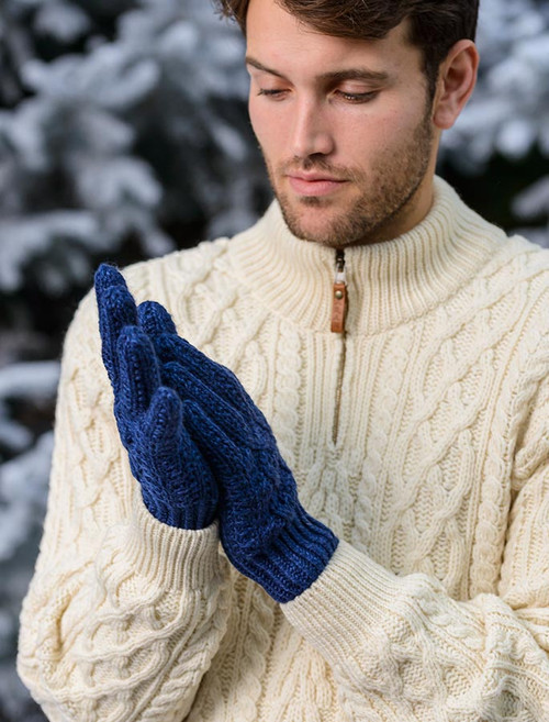 Adult Aran Gloves - Nightshade
