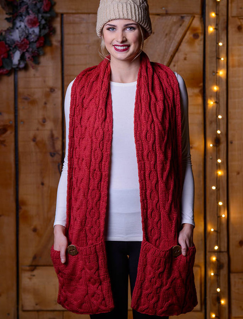 Pocket Merino Scarf - Chillipepper