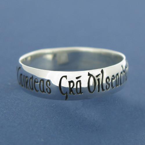 Sterling Silver Irish Ring - Ladies