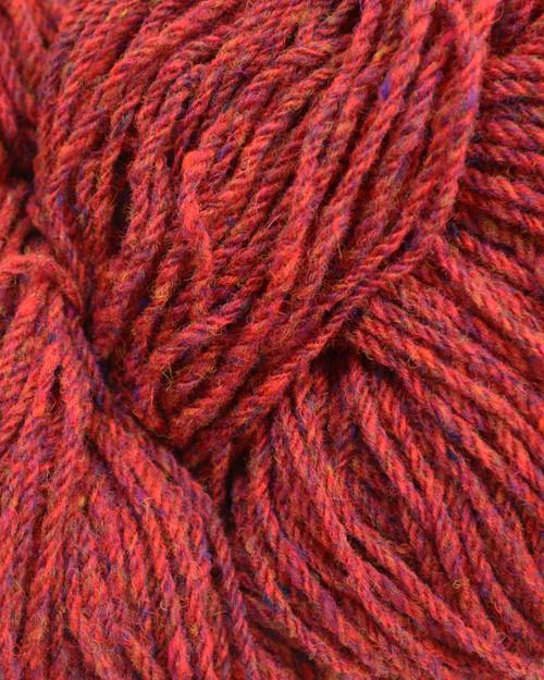 Aran Wool Knitting Hanks - Raspberry Fleck