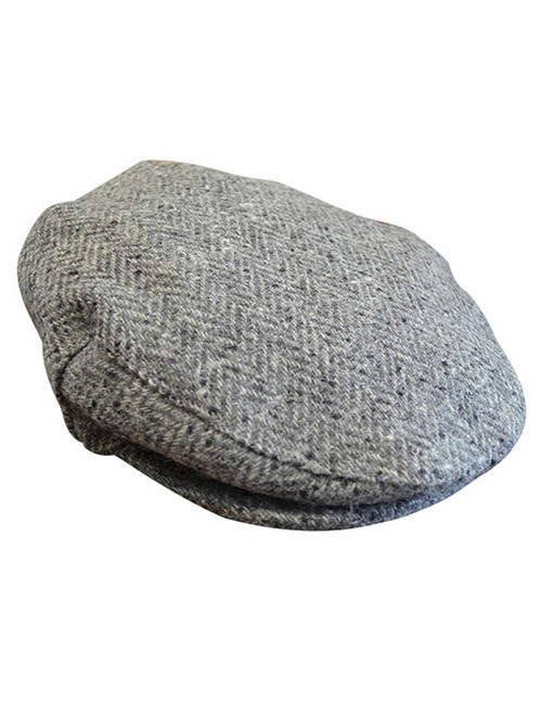 Tweed Flat Cap - Grey