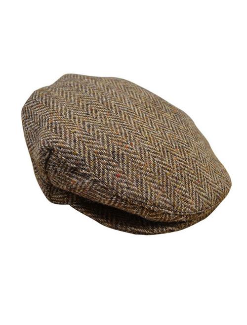 Tweed Flat Cap - Brown
