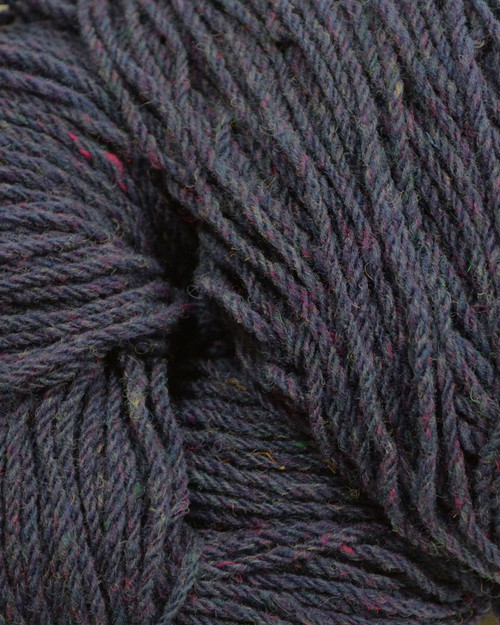 Aran Wool Knitting Hanks - Purple Fleck