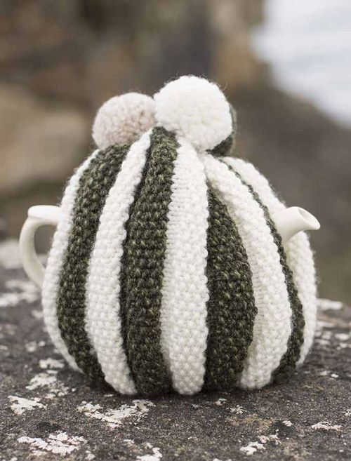 Striped Aran Tea Cosy