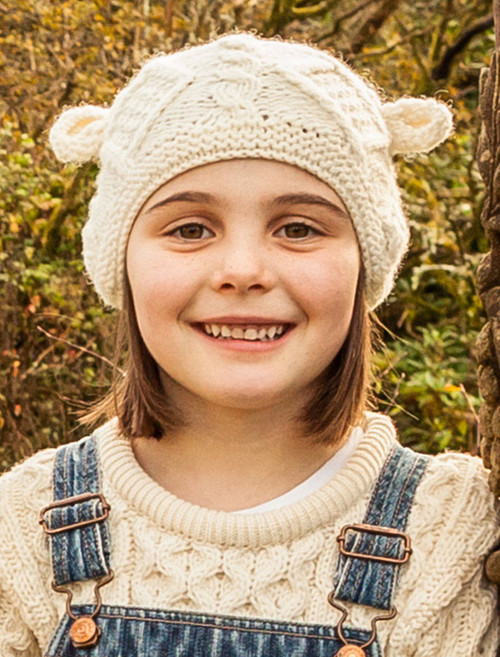 Children's Aran Hat with Ears