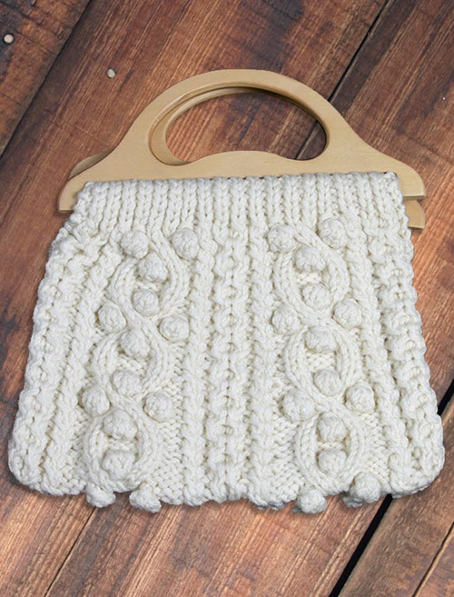 Aran Bag with Wood Handle