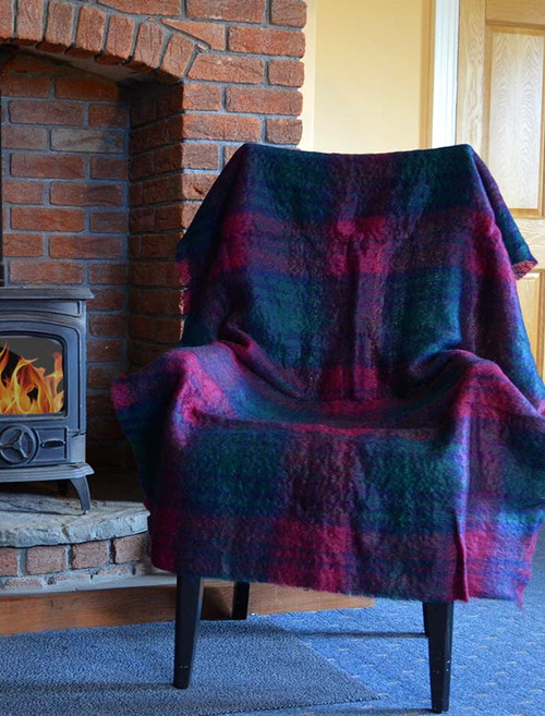 Mohair Plaid Knee Throw - Lindsay Tartan