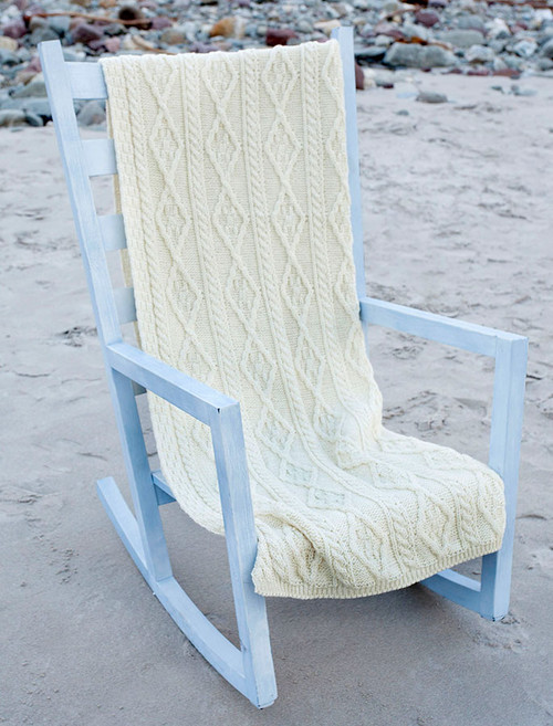 Aran Merino Diamond Throw