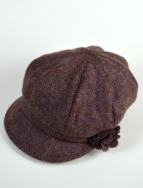Ladies Shannon Newsboy Hat - Purple
