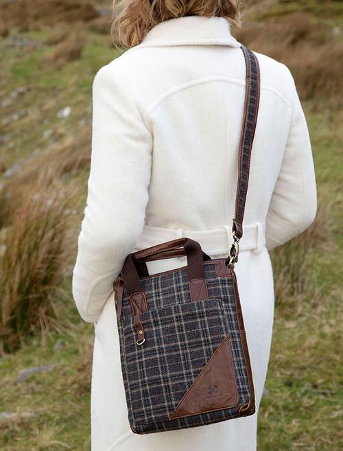 Tartan & Leather Tote Bag
