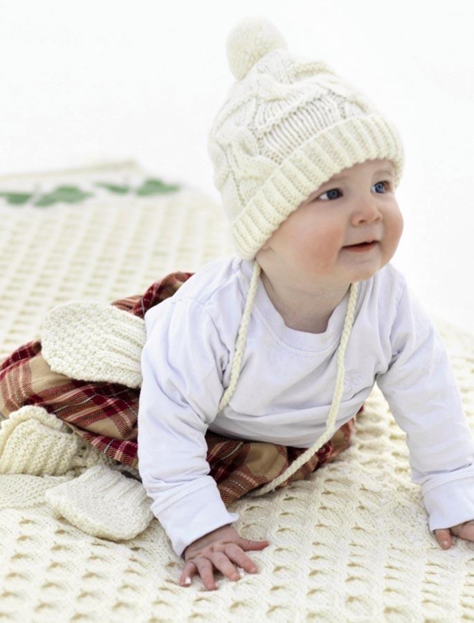 Merino Shamrock Baby Throw