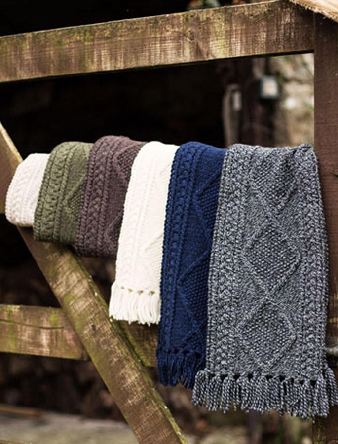 Aran Merino Wool Scarf