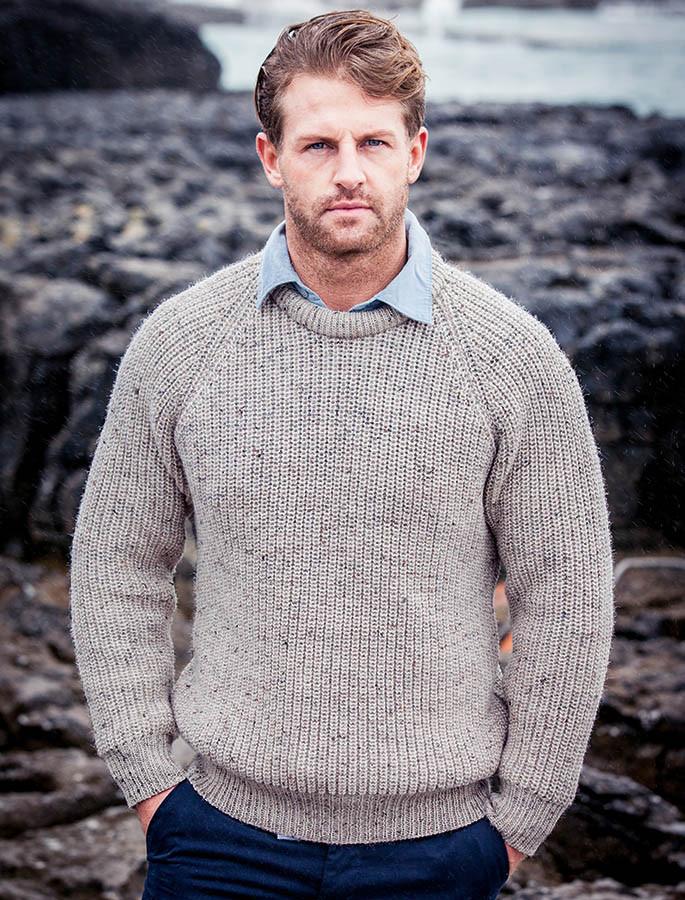 Irish Fishermans Sweater - Skiddaw