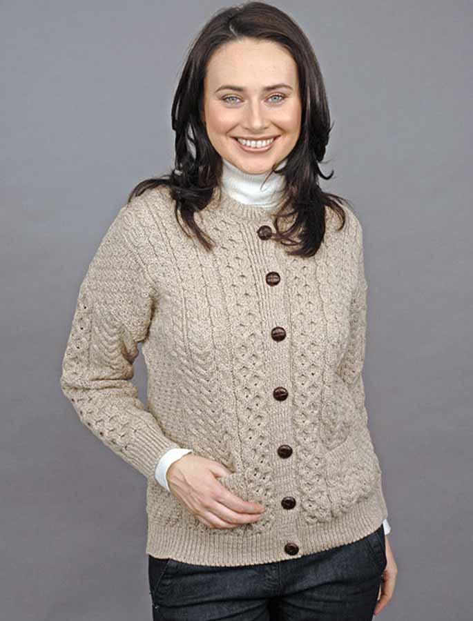 Merino Wool Aran Lumber Jacket - Wicker