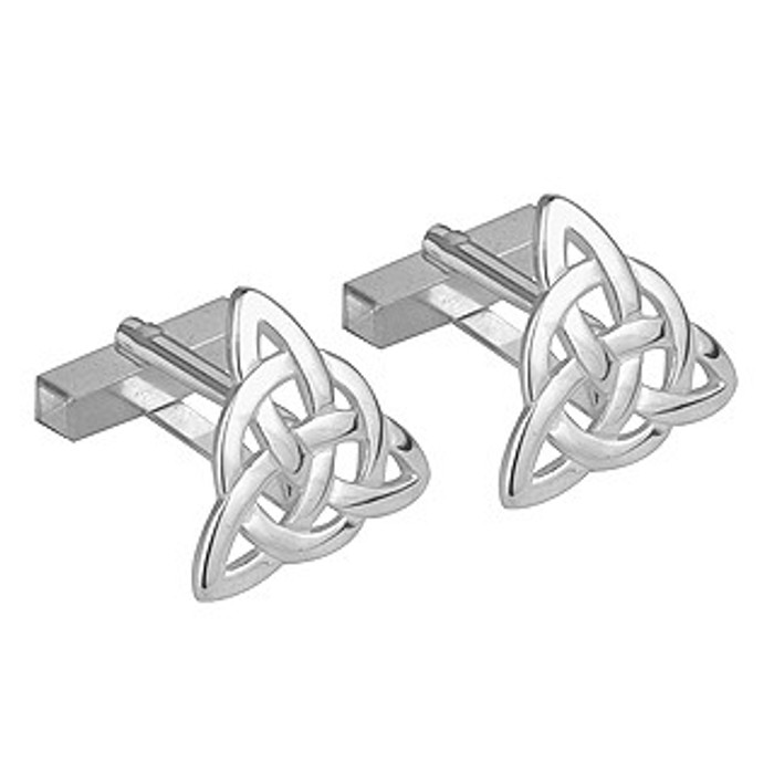 Rhodium Plated Trinity Cufflinks