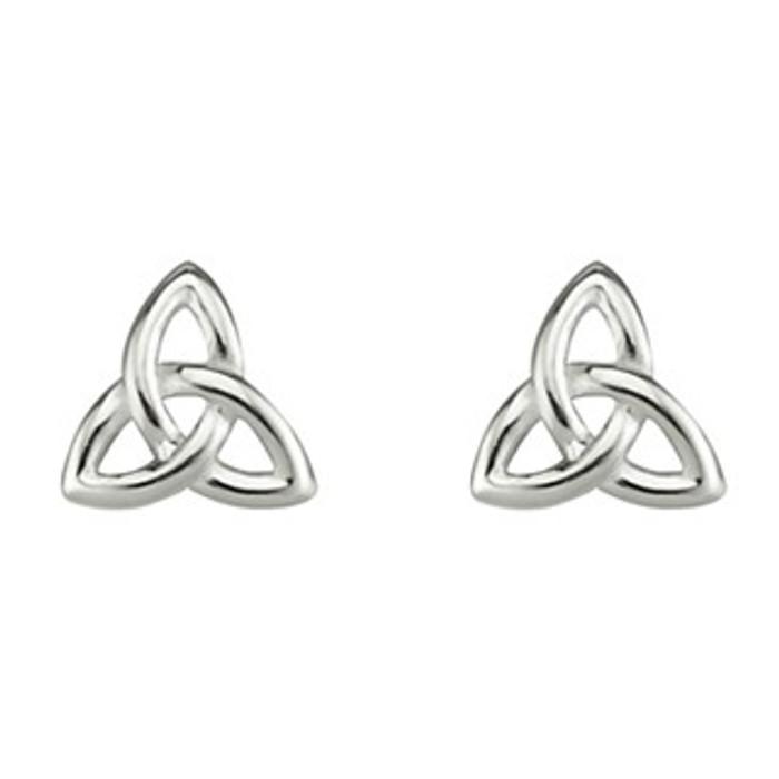 Sterling Silver Small Trinity Stud Earrings