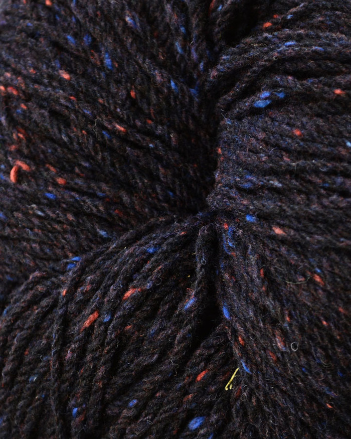 Aran Wool Knitting Hanks - Navy Charcoal
