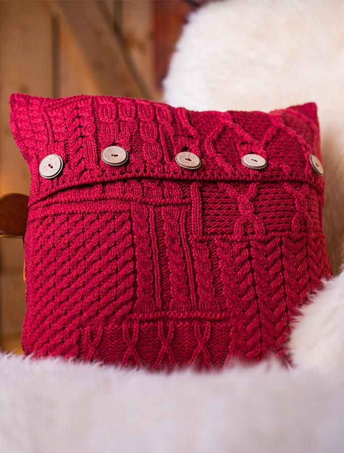 Aran-Knit Cushion Cover