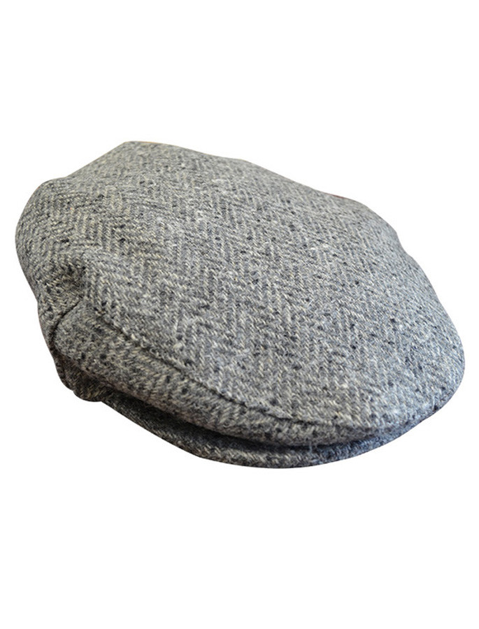 Tweed Flat Cap - Grey