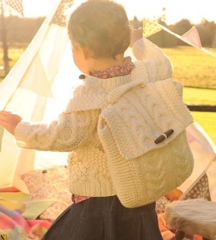 Kids Aran Satchel Bag