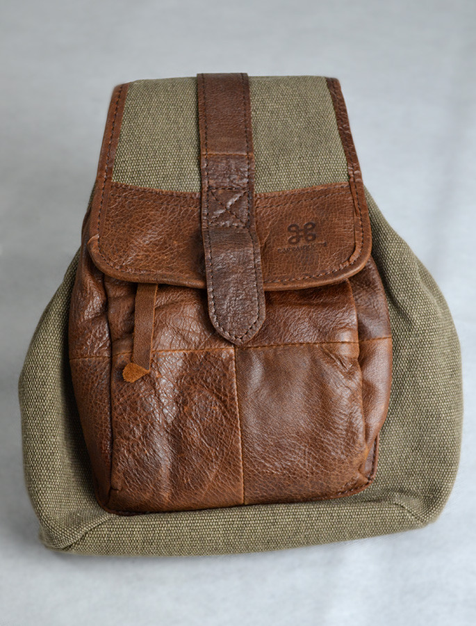 Traditional Tweed & Leather Backpack