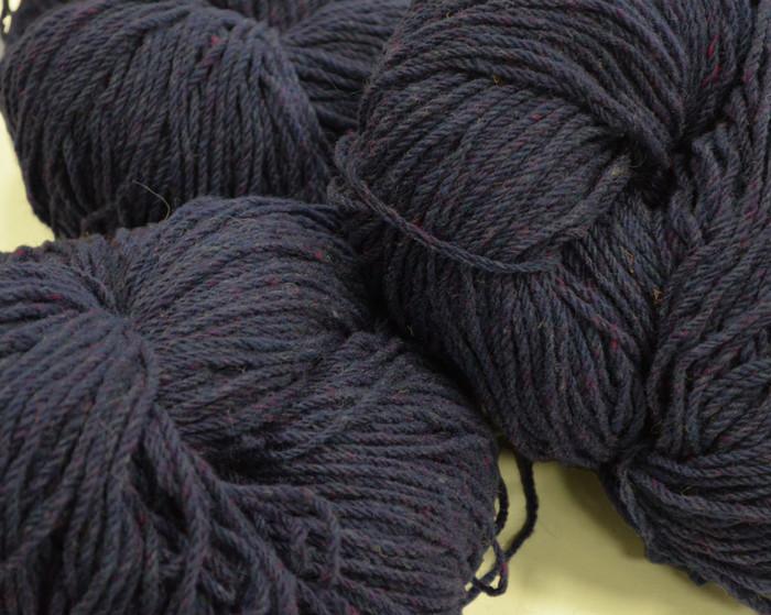 Aran Wool Knitting Hanks - Purple Fleck