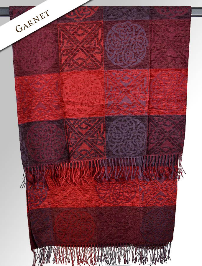 GlenAran Celtic Throw - Garnet