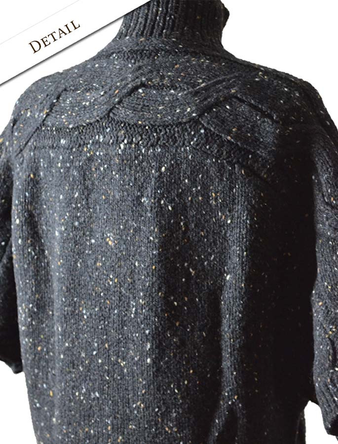 Back Detail of Women's Batwing Cable Cardigan