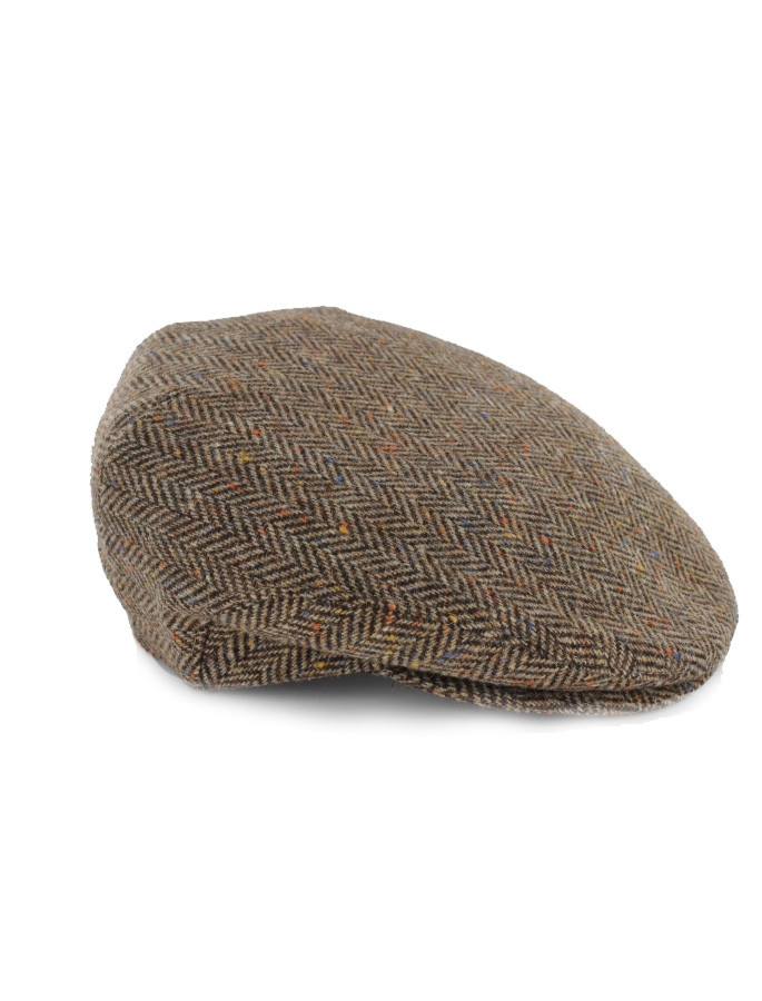 Trinity Tweed Flat Cap - Brown