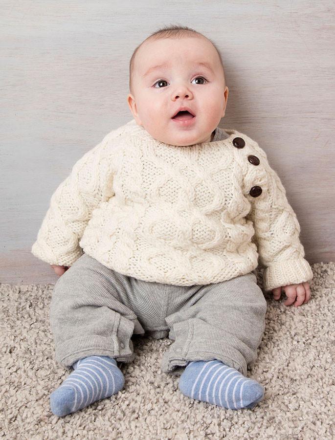 Baby/Toddler Side-Fastening Sweater