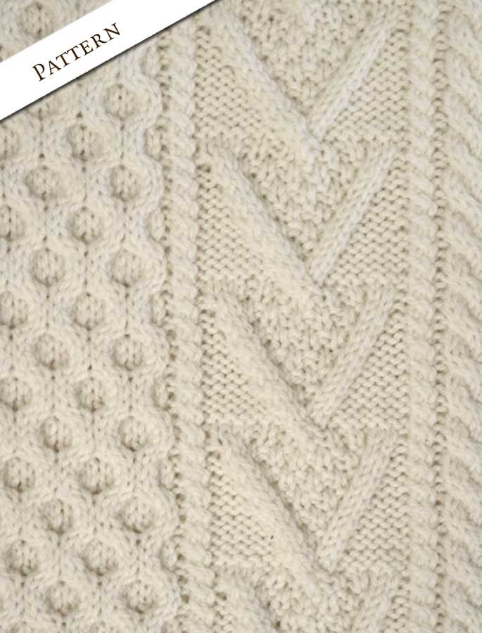 fcb9d99edf8e5e Hand-knit Chevron Stitch Sweater
