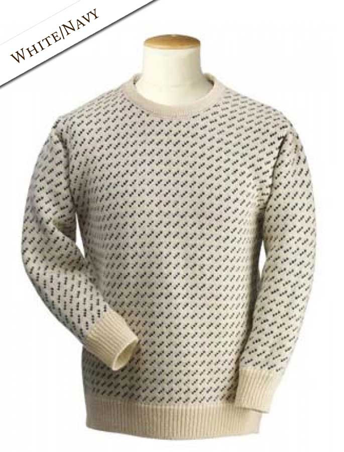 Norwegian Sweater for Women - White/Navy