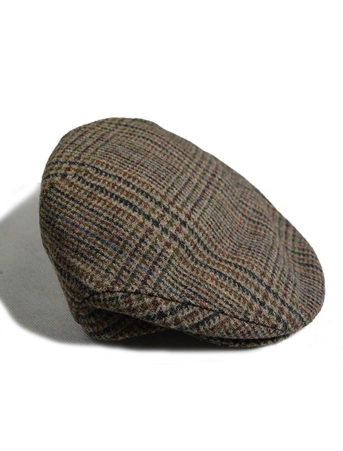 Trinity Tartan Flat Cap - Brown Check
