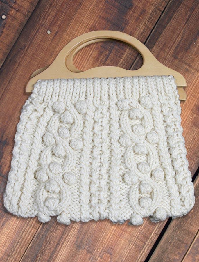 Aran Bag with Wood Handle