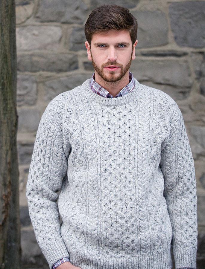 Wool Cashmere Aran Sweater - Chalk
