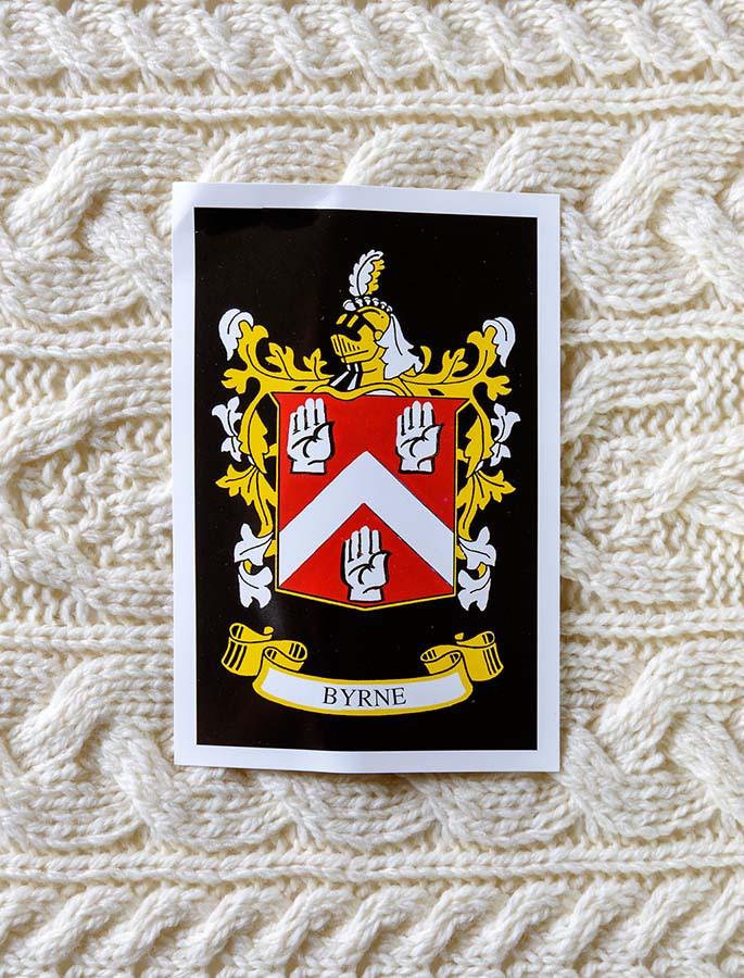 Byrne Clan Aran Throw