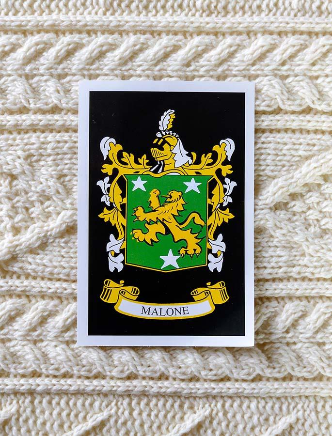 Malone Clan Aran Throw