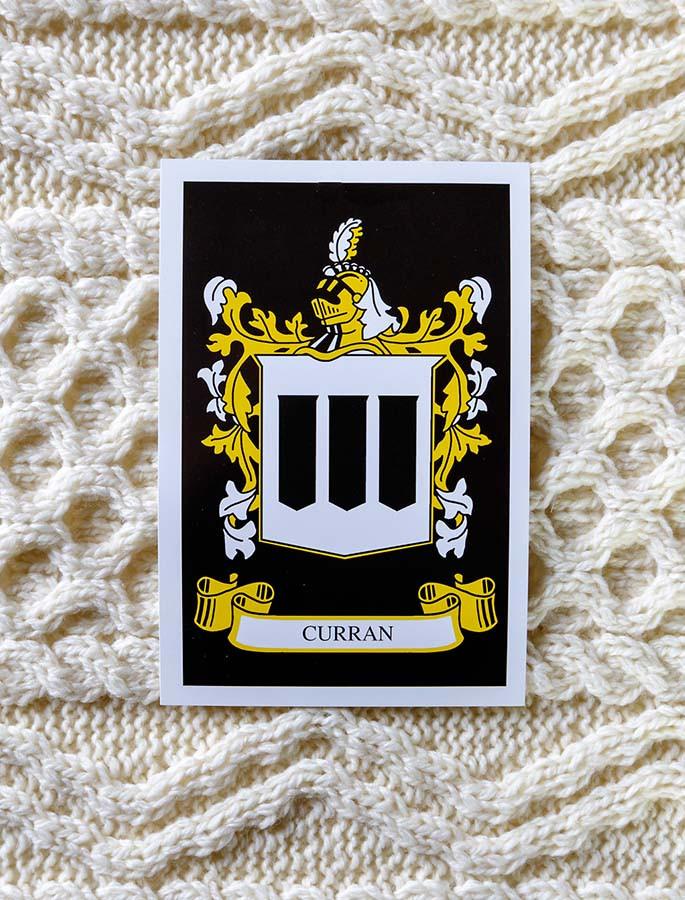 Curran Clan Aran Throw