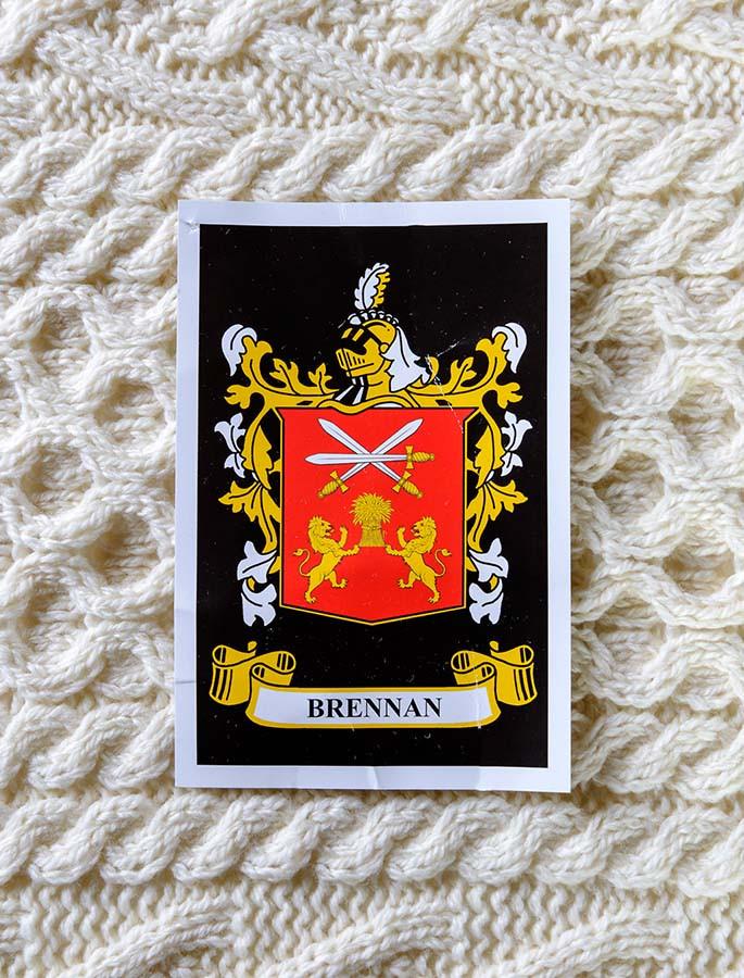 Brennan Clan Aran Throw