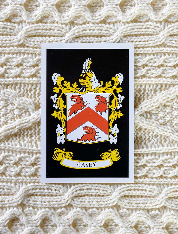 Casey Clan Aran Throw