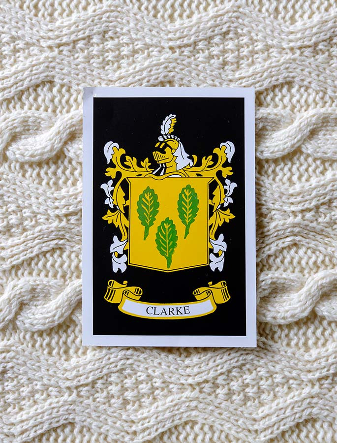 Clarke Clan Aran Throw