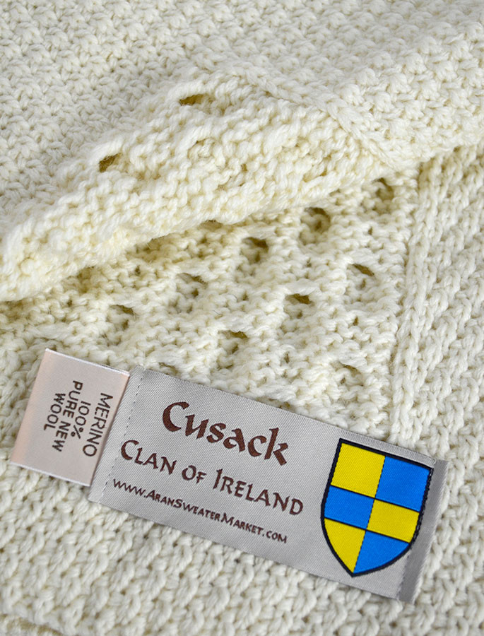 Cusack Clan Aran Throw