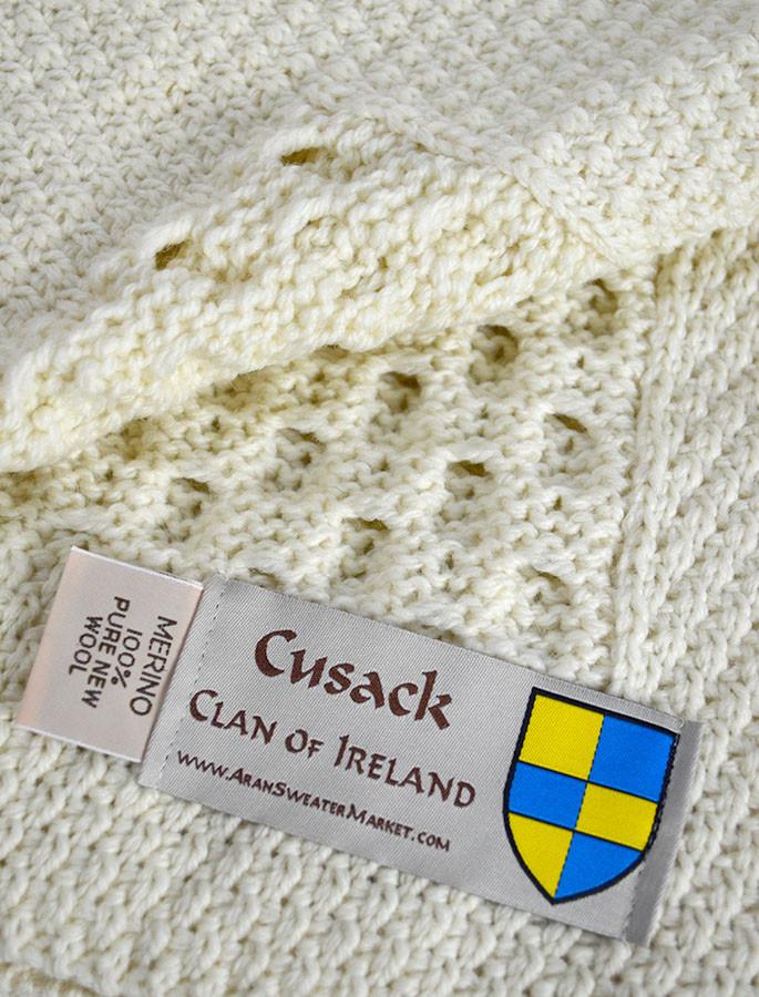 Cusack Clan Aran Throw