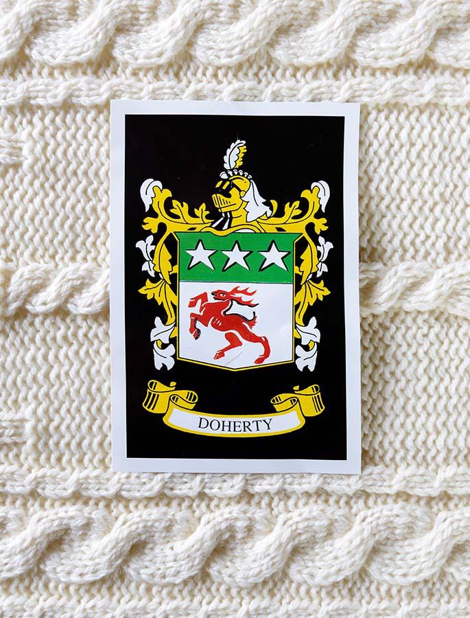 Doherty Clan Aran Throw